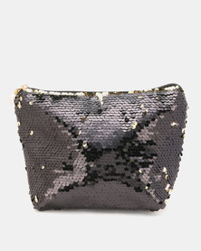 Lily & Rose Sequin Cosmetic Bag Black/Gold