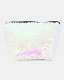 Lily & Rose Sequin Cosmetic Bag White/Pink
