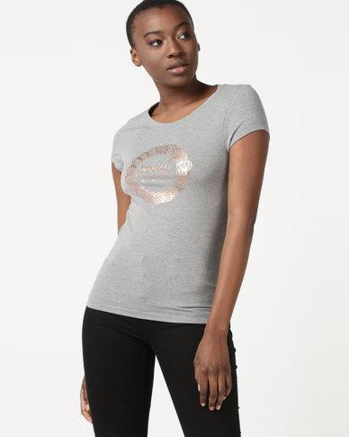 Soviet Crewneck Logo T-Shirt Grey
