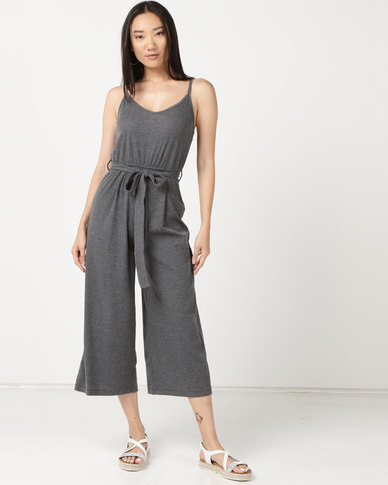 Legit Rib Cami Jumpsuit Grey