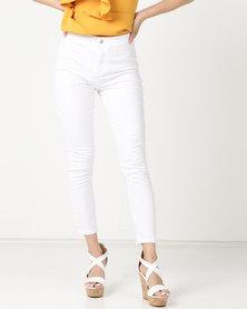 Legit Tube Skinny Jeans White
