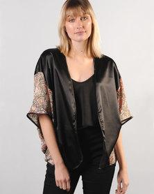 Marique Yssel Combo Kimono Paisley Black
