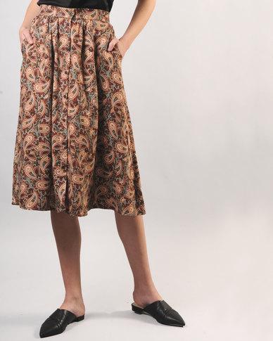 Marique Yssel Button Down Skirt Gracia Olive