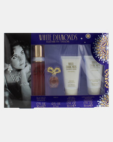 Elizabeth Taylor White Diamonds EDT 50ml & Body Lotion 50ml  & Body Wash 50ml & EDP Mini 3.7ml