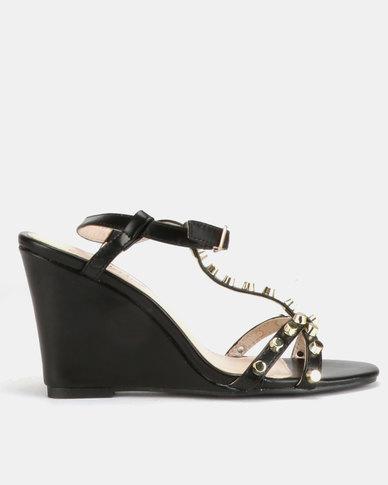 Miss Black Asia Wedge Sandals Black