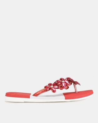 fe45c5136d4 Miss Black Folle Sandals Red