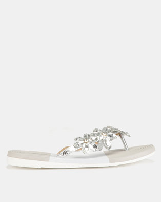 Miss Black Folle Sandals Silver