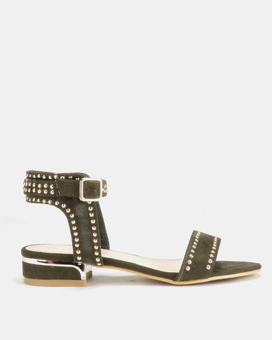 Miss Black Megan Sandals Green