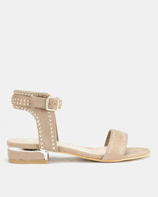 Miss Black Megan Sandals Beige