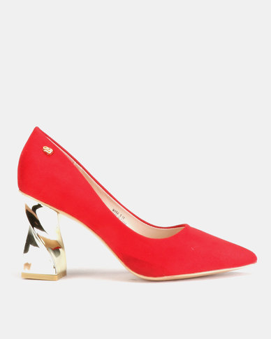 Miss Black Myra Heel Courts Red