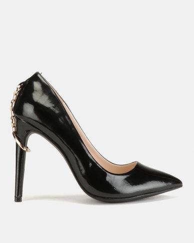 Miss Black Terina Heel Courts Black