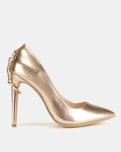 Miss Black Terina Heel Courts Gold