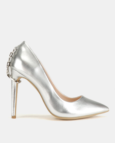 Miss Black Terina Heel Courts Silver