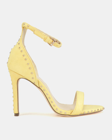 Miss Black Tess Heel Sandals Yellow