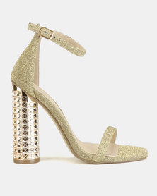 Miss Black Adeline Heel Sandals Gold