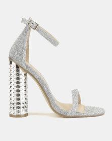 Miss Black Adeline Heel Sandals Silver