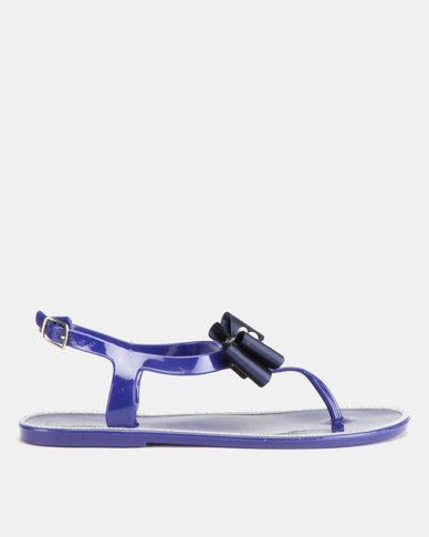 Miss Black Desnae Sandals Navy