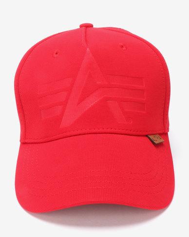 Alpha Industries Otto Fexfit Peak Cap Red