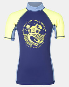 Lizzard Boys Keegan Rash Vest Navy/Yellow