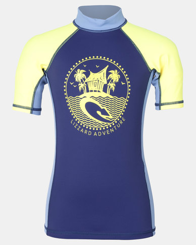 Lizzard Boys Keegan Rash Vest Navy/Yellow