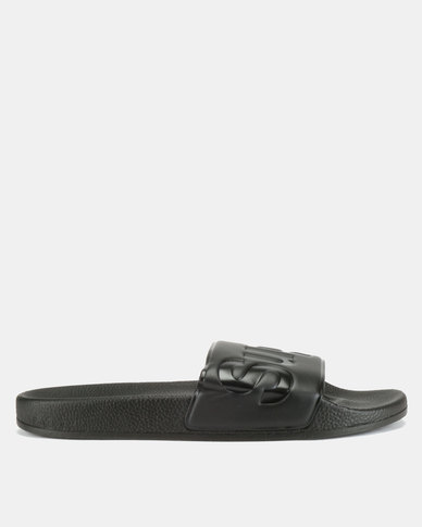 Superga PU Slides Total Black