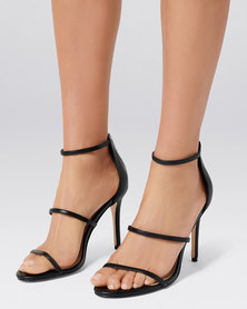 Forever New Juliana 3-Strap Stiletto Heel Black