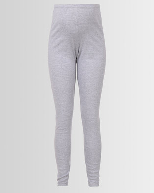 Hannah Grace Maternity Over The Belly Tights Grey