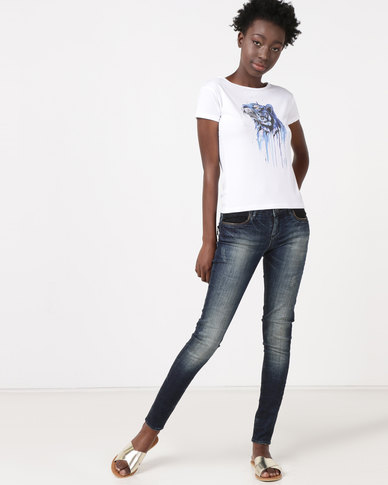 Diva Jeans Salma Low Rise Skinny Jeans Lace Extreme
