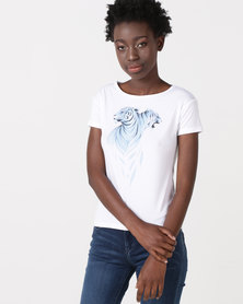 Diva DOUBLE TIGER T-Shirt White