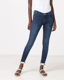 Diva Jeans Monroe Mid Rise Skinny Jeans Ocean
