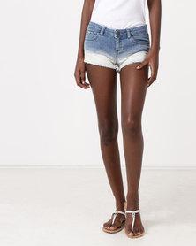 Diva Jeans Ellis Mid Rise Shorts BLUE FADE