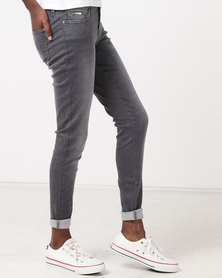 Diva Jeans Ellis Mid Rise Skinny Jeans Grey Camo
