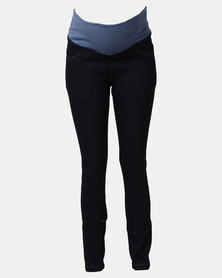 Hannah Grace Maternity Dark Denim Jeans Dark Blue