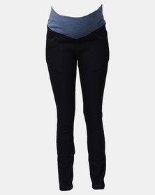 Hannah Grace Maternity Dark Denim Jeans Dark Blue