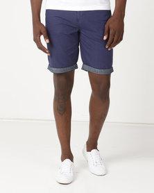 Samson Viper Chino Shorts Navy