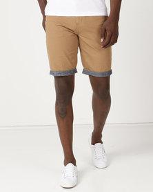 Samson Viper Chino Shorts Camel