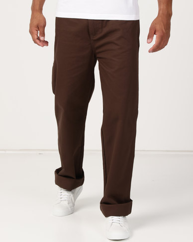 Samson Long Twill Painter Trousers Brown