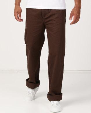 5dd210e25ae1 Samson Long Twill Painter Trousers Brown