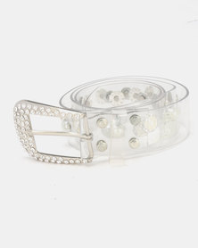 Queenspark Pearl Combo Jelly Belt Clear