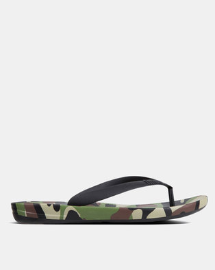 46e5d2d5465 FitFlop Men s iQushion Camo Khaki Mix