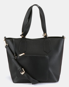 Pierre Cardin Lydia Studded Tote Bag Black