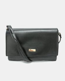 Pierre Cardin East West Crossbody Bag Black