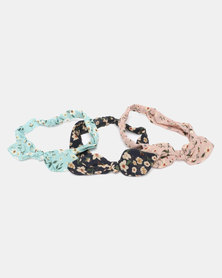 Joy Collectables Floral Headband 3 Pack Multi