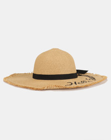 Joy Collectables Hello Sunshine Straw Hat Natural