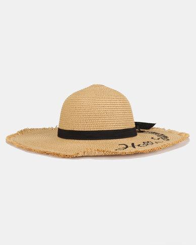 Joy Collectables Hello Sunshine Straw Hat Natural  826b20750f05