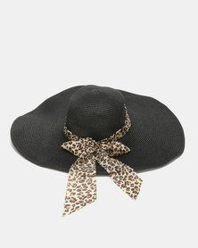 Joy Collectables Classic Straw Hat Black