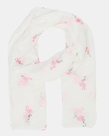 Joy Collectables Glittered Flamigo Scarf Pink