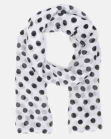 Joy Collectables Spot Scarf White