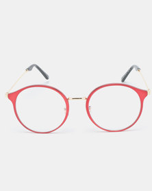 Joy Collectables Clear Lens Glasses Red