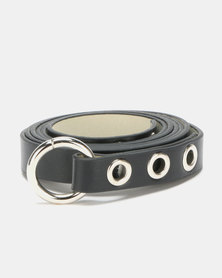 Joy Collectables Circle Detail Belt Black